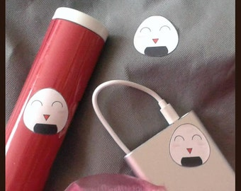 Sticker sticker small onigiri happy 4 x 4 sticker set Dekosticker