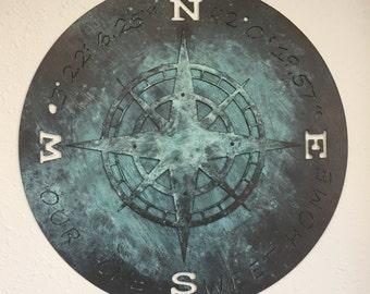 Antiqued Compass