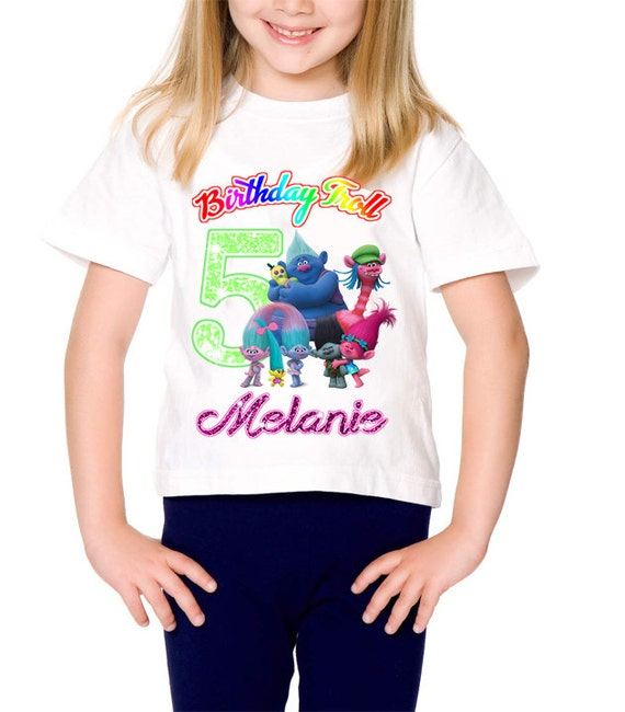 DIY Personalized Trolls Birthday Shirt