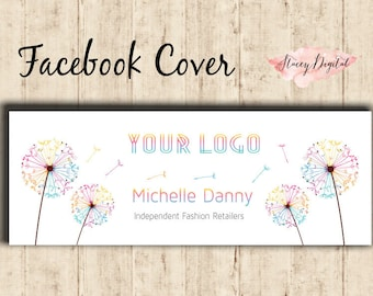 LLRoe Home Office approved DIGITAL! Facebook Cover - Dandelion