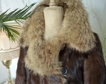 1910 Aviator Fur Coat, edwardian coat, antique coat, Fliegermantel, Manfred von Richthofen,