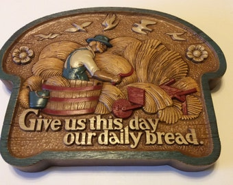 Vintage Burwood Products Our Daily Bread Wall Decor