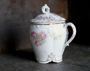 Sugar Bowl Bavarian Porcelain Small Vintage China