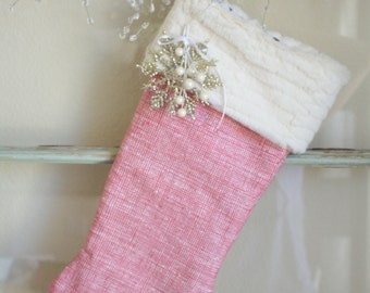 Pink Peppermint Stocking (ornament not included)