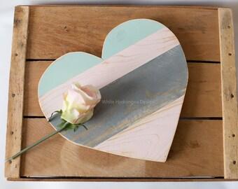 Rustic Distressed Wood Heart