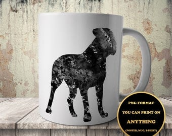 Cane Corso, Dog, print on anything, image on transparent background, digital file, Watercolor, printable wall art (67)