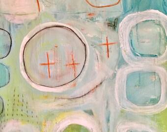 Original Abstract Art on Paper, modern art, home decor, painting