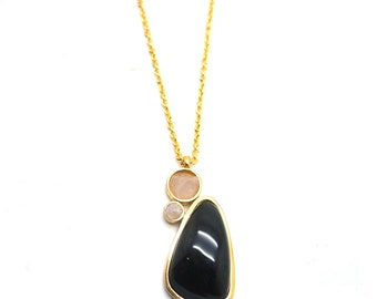 Gaea Necklace - Gold - Onyx