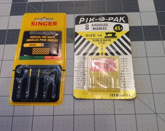 Vintage Sewing Machine Needles, Singer, White, New Home, Kenmore Rotary