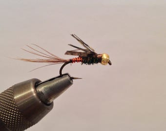 Fly Fishing Flies: Three (3) Bead Head Pheasant Tail Nymph