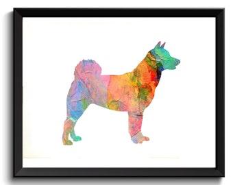 Akita Art Print -Akita Wall Print, Akita Painting, Dog Pet Art, Akita Dog Poster, Printable Dog, Digital, Akita Painting, Akita Watercolor