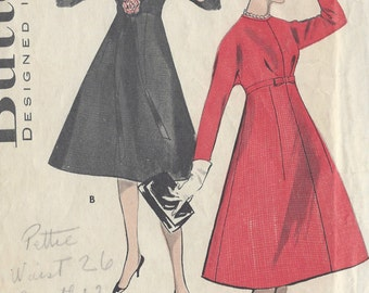 "1960s Vintage Sewing Pattern B36"" DRESS (R372)  Butterick 8731"