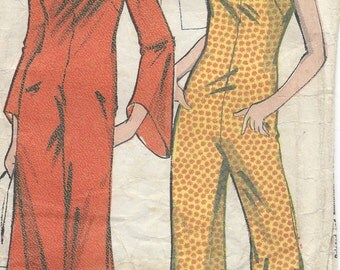1960s Vintage Sewing Pattern B36 CAT-SUIT, JUMPSUIT (R674) By Practical 6104