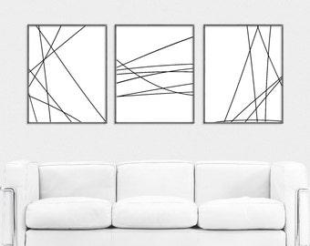 Set 3 prints, wall art prints, prints illustrations, art prints, abstract print, line art,decor, wall decor, digital print, instant download
