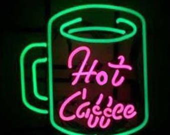 "16"" Tall Hot Coffee Cup - Convenience Store - Gas Station - Truck Stop - Restaurrant - Neon Sign"