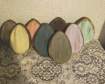 Primitive wooden Easter Eggs