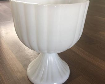 Milk Glass Candy Dish - Milk Glass - Pedestal Candy Dish - Candy Dish - Vintage Milk Glass - Milk Glass Dish - Vintage - Vintage Candy Dish