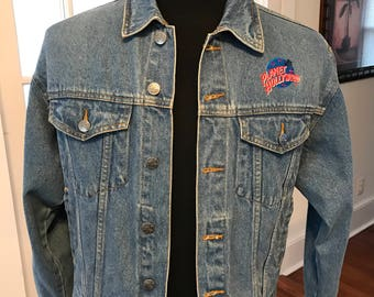 Vintage 1991 Planet Hollywood Dallas Denim Jacket
