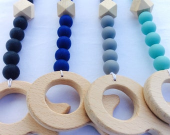 Gyms accessory from wood and silicone pearls