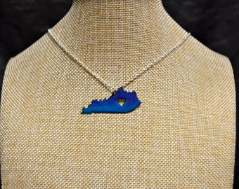 Blue Fade Handmade Kentucky Stone Necklace!