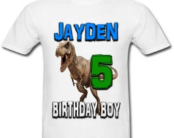 Personalized T-Rex Dinosaur Birthday shirt for Family