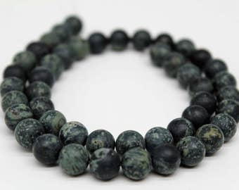 Matte Rhyolite Gemstone Round Loose beads 6/8/10mm