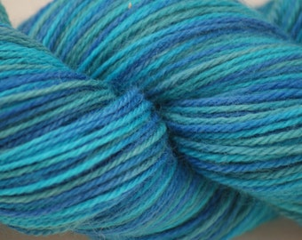 "Wool/Nylon Sock Yarn Hand-painted ""Serenity"""
