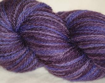 "Wool/ Silk Hand-painted Lace Yarn ""Viola"""