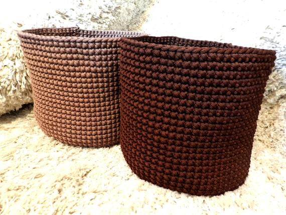 Storage basket – large basket – laundry hamper – laundry basket - laundry bag – crochet basket – bathroom basket – housewarming gift