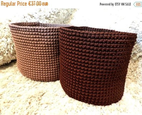 Perfect Laundry basket // Handmade crochet basket // Big crochet basket // Toys Bag // Laundry Bag //Home storage//Polyester rope basket