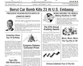 The Birthday Chronicle - Unique Birthday, Anniversary Gift - PDF File