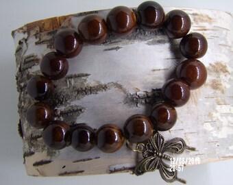 B1222 Brown Ceramic Bracelet.