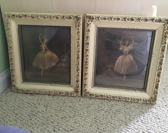 """Midcentury Sophie Ballerina small prints - """"Sur Les Pointes"""" and """"Attitude"""" - set of 2."""