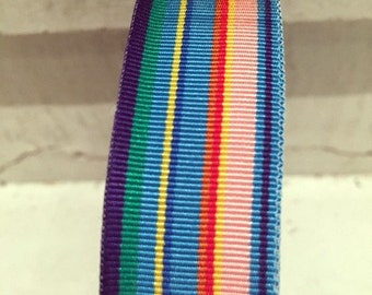 """7/8"""" (23mm) preppy multicolor striped grosgrain ribbon"""