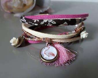 "Bracelet ""Wrap"" Flemish rose"