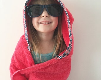 Hooded towel, hooded kids towel, kids towel, baby towel, watermelon towel