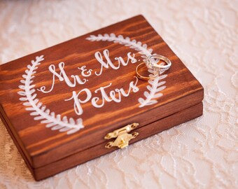 Personalized Wedding Ring Bearer Box
