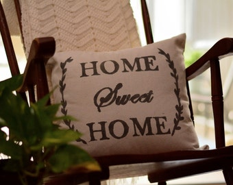 """Home Sweet Home - pillow cover (18""""x18"""")"""