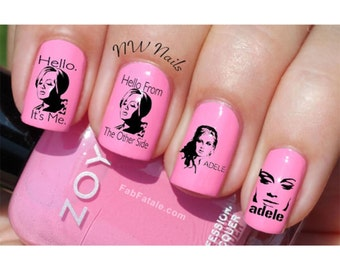Adele Hello Nail Art Decals