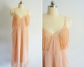 vintage Mi Amor slip dress | vintage pink slip | vintage lace slip