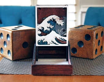 The Great Wave Dice Tower