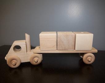 Wood truck, Handmade wooden block truck ALL MAPLE, wooden truck, wood blocks, wood toy truck, wood toys for kids, toy truck