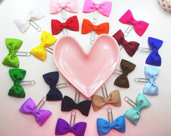 Bow Paper Clips / Bow Planner Clips / You Choose Color