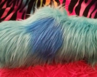 Blue with Royal Blue Dots Fursuit Tail