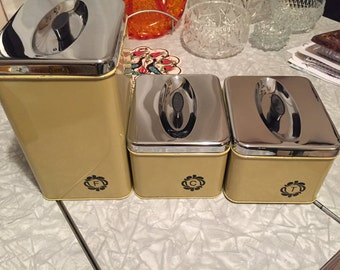 Vintage Canisters. ESW Co. Canada. Set of three