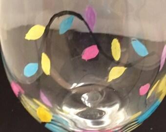 Bright Lights  Wineglass
