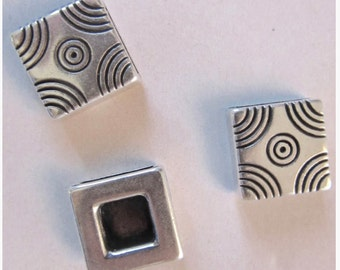 BEAUTIFICATION JEWEL passing square silver, 13mm