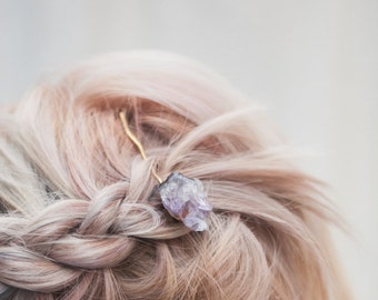Rock Crystal Hair Pin - Boho Bobby Pin - Featured on Etsy's Instagram