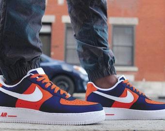 Denver Broncos Custom Hand Painted Sneakers - Nike Air Force 1's