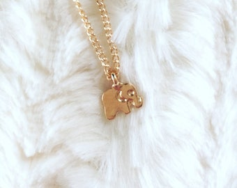 Gold Elephant Necklace | Lucky Elephant | Good Luck Charm | Birthday Gift idea | Special Gift | Gift for Friend | Lucky Elephant Charm